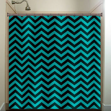 Best Black And White Chevron Shower Curtain Products on Wanelo
