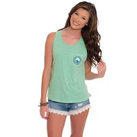 Marled Boyfriend Tank Top in Heather Teal by The Southern Shirt Co.