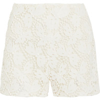 Valentino - Cotton-blend guipure lace shorts