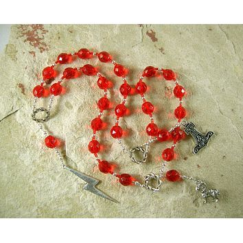 Thor Prayer Beads: Norse God of Thunder, Protector of Humanity