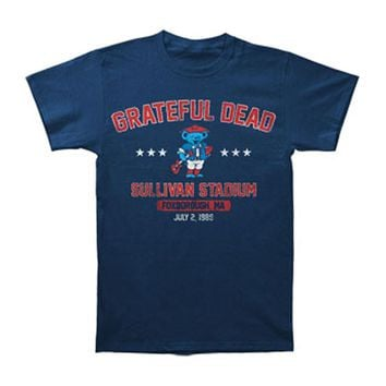 Grateful Dead Men's  Patriot Dead T-shirt Blue Rockabilia