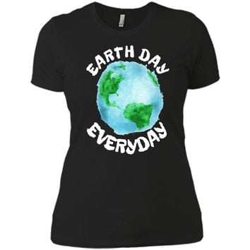 Earth Day Shirt Everyday Conservation Plant Nature Lover Tee Next Level Ladies Boyfriend Tee