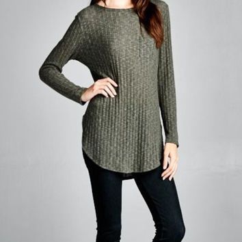 Anything Goes Sweater - Olive