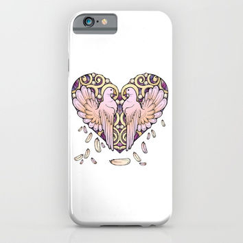 Lover Pigeons - Royal Heart iPhone & iPod Case by MIKART