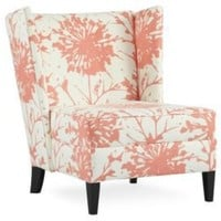 One Kings Lane - Elite Leather - Lulu DK Camille Chair, Pink/White