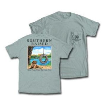 "Southern Raised ""Tire Swing"" Tee on Comfort Colors"