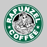 Rapunzel Coffee Adult Tee Shirt