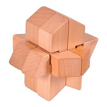 Wooden Space Shuttle Lock Rocket Locks Logic Puzzle toy Burr Puzzles Brain Teaser Intellectual Assembly Toy