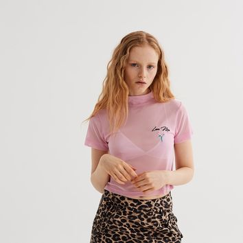 Lazy Oaf Love Me Sheer T-shirt - View all - New In - Womens