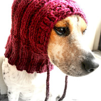 Small dog cowl, dog hat, pet cowl, pet clothing, dog clothes, gift idea, dog hoodie