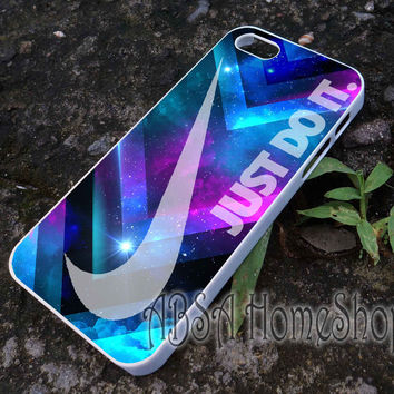 nike logo on galaxy nebula case for iPhone 4/4s/5/5s/5c/6/6+ case,iPod Touch 5th Case,Samsung Galaxy s3/s4/s5/s6Case, Sony Xperia Z3/4 case, LG G2/G3 case, HTC One M7/M8 case galaxy
