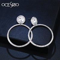 OCESRIO Silver Hoop Earrings 2018 Crystal Fashion Big Earrings Hoops Womens Statement Jewellery kolczyki orecchini ers-m31