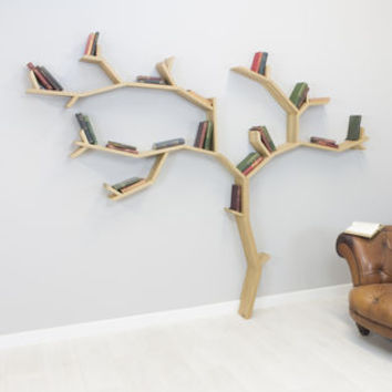 beech tree bookcase shelf by bespoak interiors | notonthehighstreet.com