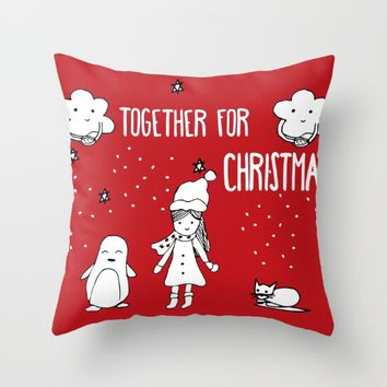 Together for Christmas Throw Pillow by SagaciousDesign