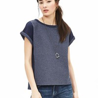 Banana Republic Womens Indigo Cropped Sweatshirt