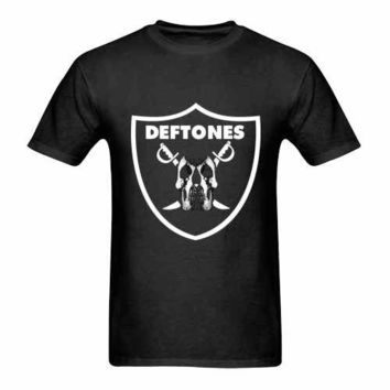 Deftones Black Raider Logo Tshirt New Men's T-Shirt Tee Size S to 3XL
