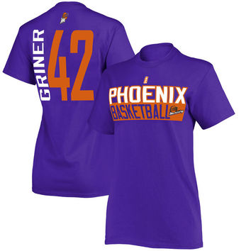 Women's Phoenix Mercury Brittney Griner Purple Name & Number T-Shirt