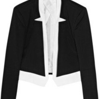 Karl | Jane layered twill tuxedo jacket | NET-A-PORTER.COM