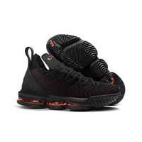Nike Lebron 16 Black Red Sneakers