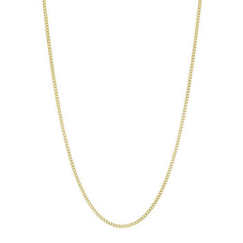 14K Gold Stainless Steel Curb Chain, 3mm Thin Men's and Women's Gold Cuban Pendant Links, 18-36 inches, Fast & FREE Shipping