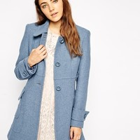 ASOS Coat in A Line With Panel Detail