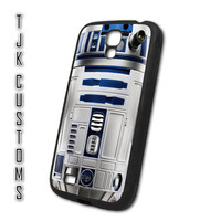 Samsung Galaxy S4 Case Galaxy s4 Case Galaxy s4 R2-D2 Case Star Wars Case Rubber w/ Metal Back