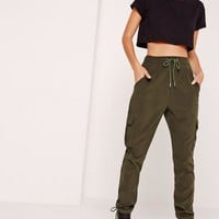 Missguided - Petite Khaki Utility Pants
