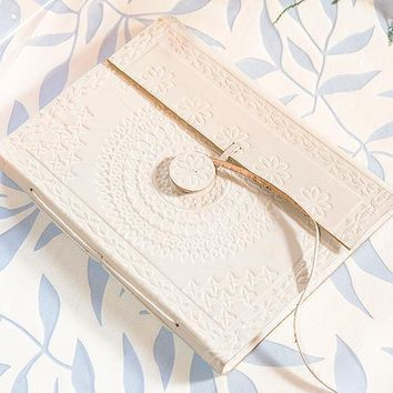 Leather Bound Journal Bohemian Style Guest Book White (Pack of 1)