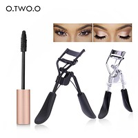 O.TWO.O 2pcs/set Makeup Set Thick Lengthening Mascara+Eyelash Curler Lady Women Lash Nature Curl Style Cute Eyelash