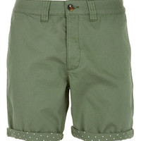 Green Chino Polka Dot Shorts