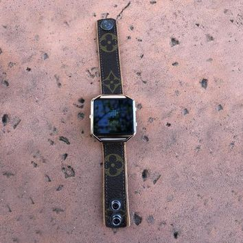 Skinny Fitbit BLAZE Band from UPCYCLED Vintage Louis Vuitton Bag