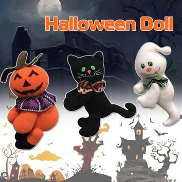 Halloween Pumpkin Cat Ghost Doll Cloth Halloween Decorations Plush Toy Club Home Exquisite Decor Gift Party Holiday DIY Supplies