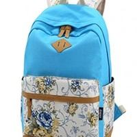 Leaper Lightweight Canvas Laptop Backpack Cute School Bags