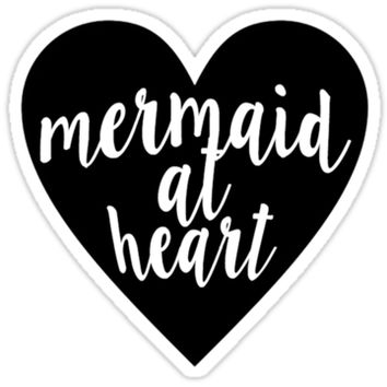"'""Mermaid At Heart"" 071211' Sticker by msul"