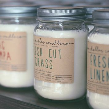Fresh Cut Grass - 16oz Soy Candle