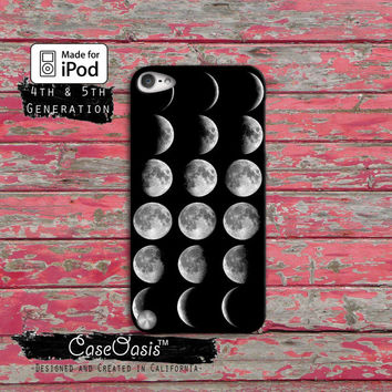 Moon Chart Phases Cool Space Case iPod Touch 4th Generation or iPod Touch 5th Generation Rubber or Plastic Case