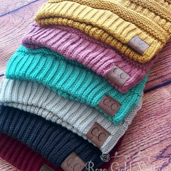 CC Beanie Hats - 45+ colors - Solid, Mixed, Metallic, Confetti & Neon
