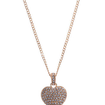 Judith Jack 14K Gold and Swarovski Crystal Heart Necklace