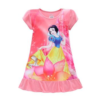2017 Girls Dresses Sofia Mermaid Minnie Mouse Elsa Anna Kids Pajamas Nightgowns Sleepwear Princess Clothes Set 4 5 6 7 8 9 Years