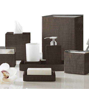 Delano Luxury Bath Accessories-Chestnut