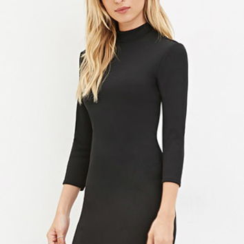 High-Neck Bodycon Dress