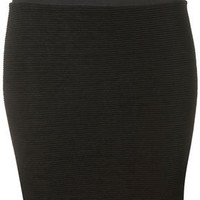 Black Textured Bodycon Mini Skirt - Glam Underground  - Designers  Collections  - Topshop