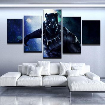 Black Panther Movie Five Piece Canvas
