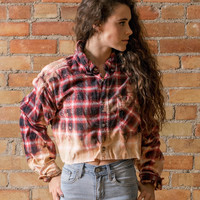 Cropped Ombre Flannel