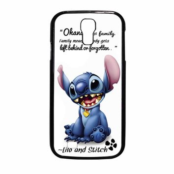 Lilo And Stitch Ohana Means Family Quote Samsung Galaxy S4 Case