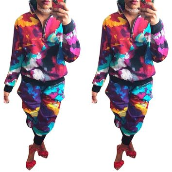 Colorful Pullover and Pants Set