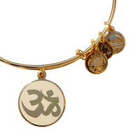 Alex and Ani OM Epoxy Bangle Ivory - Yellow Gold