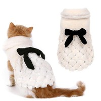 Pet Clothing Luxury Elegant Fur Coat Winter Small Dog Cat Clothes Bow knot Clothes For Chihuahua Dogs