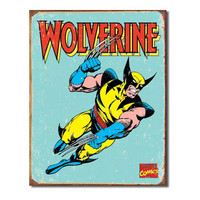 Wolverine X-Men Distressed Retro Vintage Tin Sign