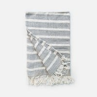 Organic Cotton Tea Towels - Grey Stripes
